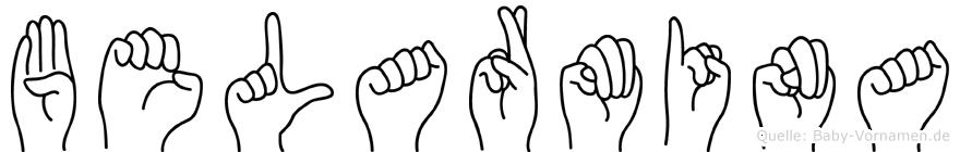 Belarmina im Fingeralphabet der Deutschen Gebärdensprache