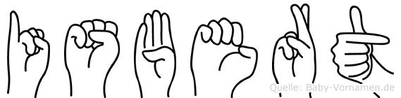 Isbert im Fingeralphabet der Deutschen Gebärdensprache