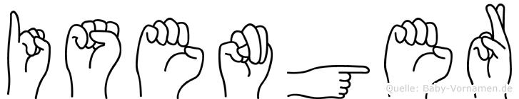 Isenger im Fingeralphabet der Deutschen Gebärdensprache