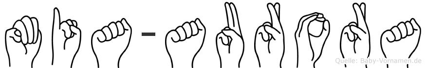 Mia-Aurora im Fingeralphabet der Deutschen Gebärdensprache