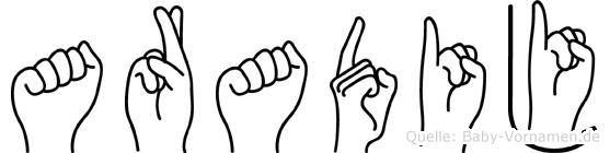 Aradij in Fingersprache für Gehörlose