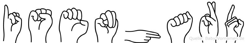 Isenhard im Fingeralphabet der Deutschen Gebärdensprache