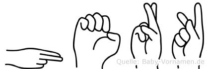 Herk in Fingersprache für Gehörlose