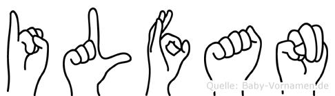 Ilfan im Fingeralphabet der Deutschen Gebärdensprache