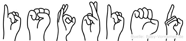 Isfried in Fingersprache für Gehörlose