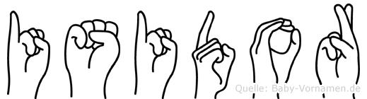 Isidor in Fingersprache für Gehörlose
