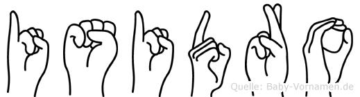 Isidro in Fingersprache für Gehörlose