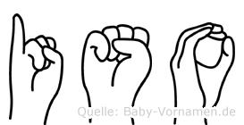 Iso im Fingeralphabet der Deutschen Gebärdensprache