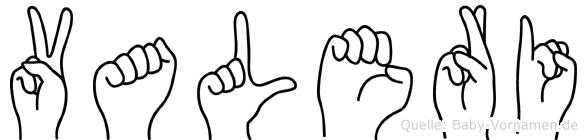 Valeri in Fingersprache für Gehörlose