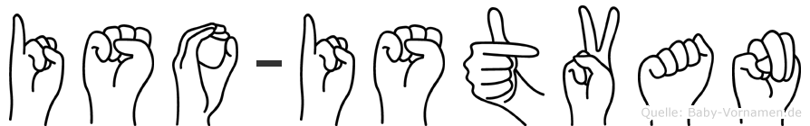 Iso-Istvan im Fingeralphabet der Deutschen Gebärdensprache