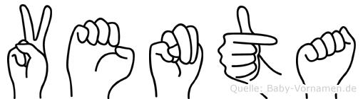 Venta im Fingeralphabet der Deutschen Gebärdensprache