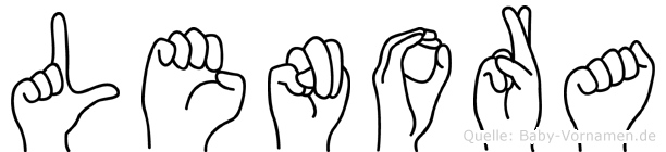 Lenora im Fingeralphabet der Deutschen Gebärdensprache