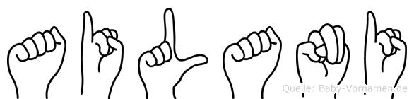 Ailani im Fingeralphabet der Deutschen Gebärdensprache