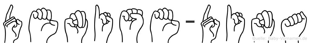 Denise-Dina im Fingeralphabet der Deutschen Gebärdensprache