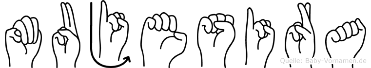 Mujesira im Fingeralphabet der Deutschen Gebärdensprache