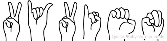 Vyvien im Fingeralphabet der Deutschen Gebärdensprache