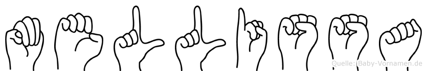 Mellissa im Fingeralphabet der Deutschen Gebärdensprache