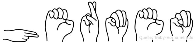 Hermen im Fingeralphabet der Deutschen Gebärdensprache