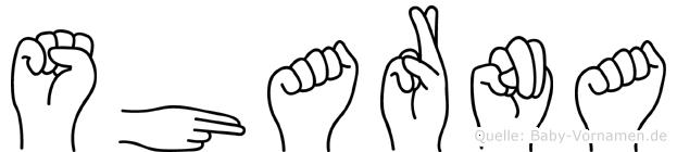 Sharna in Fingersprache für Gehörlose