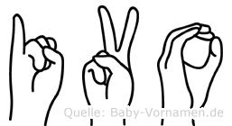 Ivo im Fingeralphabet der Deutschen Gebärdensprache
