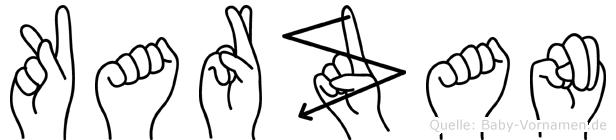 Karzan in Fingersprache für Gehörlose
