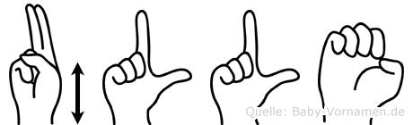 Ülle im Fingeralphabet der Deutschen Gebärdensprache