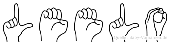 Leelo in Fingersprache für Gehörlose