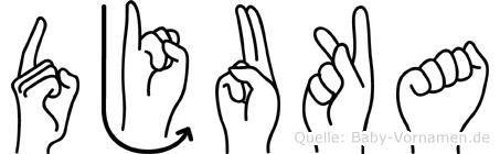 Djuka in Fingersprache für Gehörlose