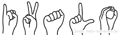 Ivalo im Fingeralphabet der Deutschen Gebärdensprache