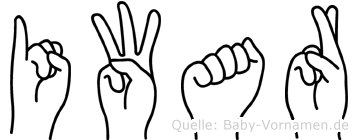 Iwar in Fingersprache für Gehörlose