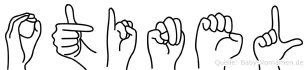 Otinel im Fingeralphabet der Deutschen Gebärdensprache