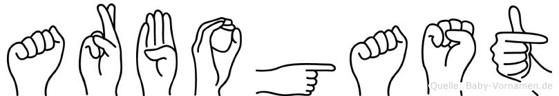 Arbogast in Fingersprache für Gehörlose