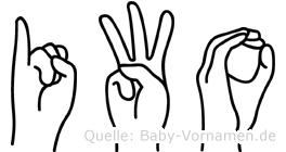 Iwo in Fingersprache für Gehörlose