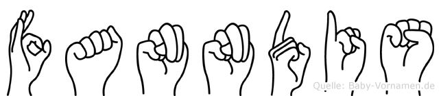Fanndis in Fingersprache für Gehörlose