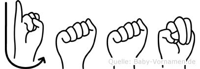 Jaan in Fingersprache für Gehörlose