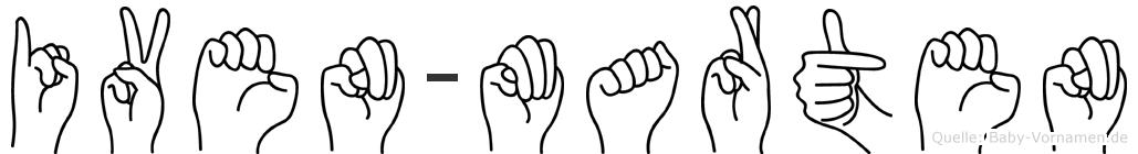 Iven-Marten im Fingeralphabet der Deutschen Gebärdensprache