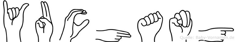 Yuchang im Fingeralphabet der Deutschen Gebärdensprache