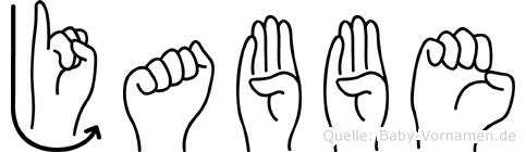Jabbe in Fingersprache für Gehörlose