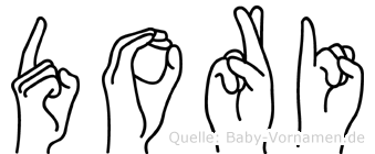 Dori in Fingersprache für Gehörlose