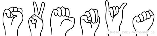 Svenya in Fingersprache für Gehörlose