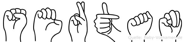 Sertan in Fingersprache für Gehörlose