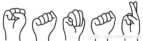 Samar im Fingeralphabet der Deutschen Gebärdensprache