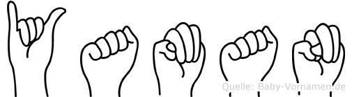 Yaman im Fingeralphabet der Deutschen Gebärdensprache