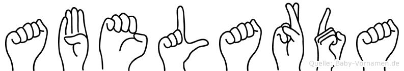 Abelarda in Fingersprache für Gehörlose