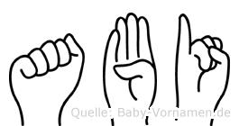 Abi in Fingersprache für Gehörlose