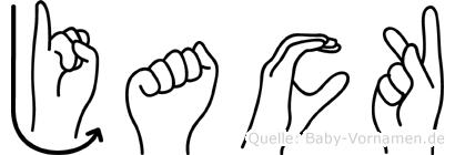 Jack in Fingersprache für Gehörlose