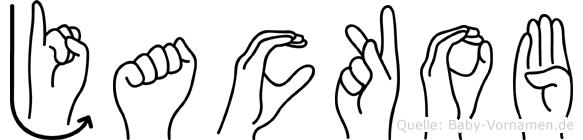 Jackob im Fingeralphabet der Deutschen Gebärdensprache