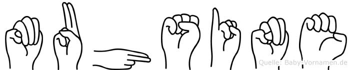 Muhsine im Fingeralphabet der Deutschen Gebärdensprache