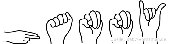 Hanny in Fingersprache für Gehörlose