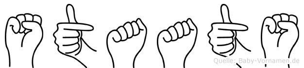 Staats in Fingersprache für Gehörlose